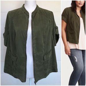 Torrid   Zippered Shirt Jacket   Size 0 (L 12)